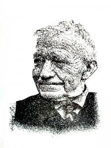 Pen tekening oom Herman