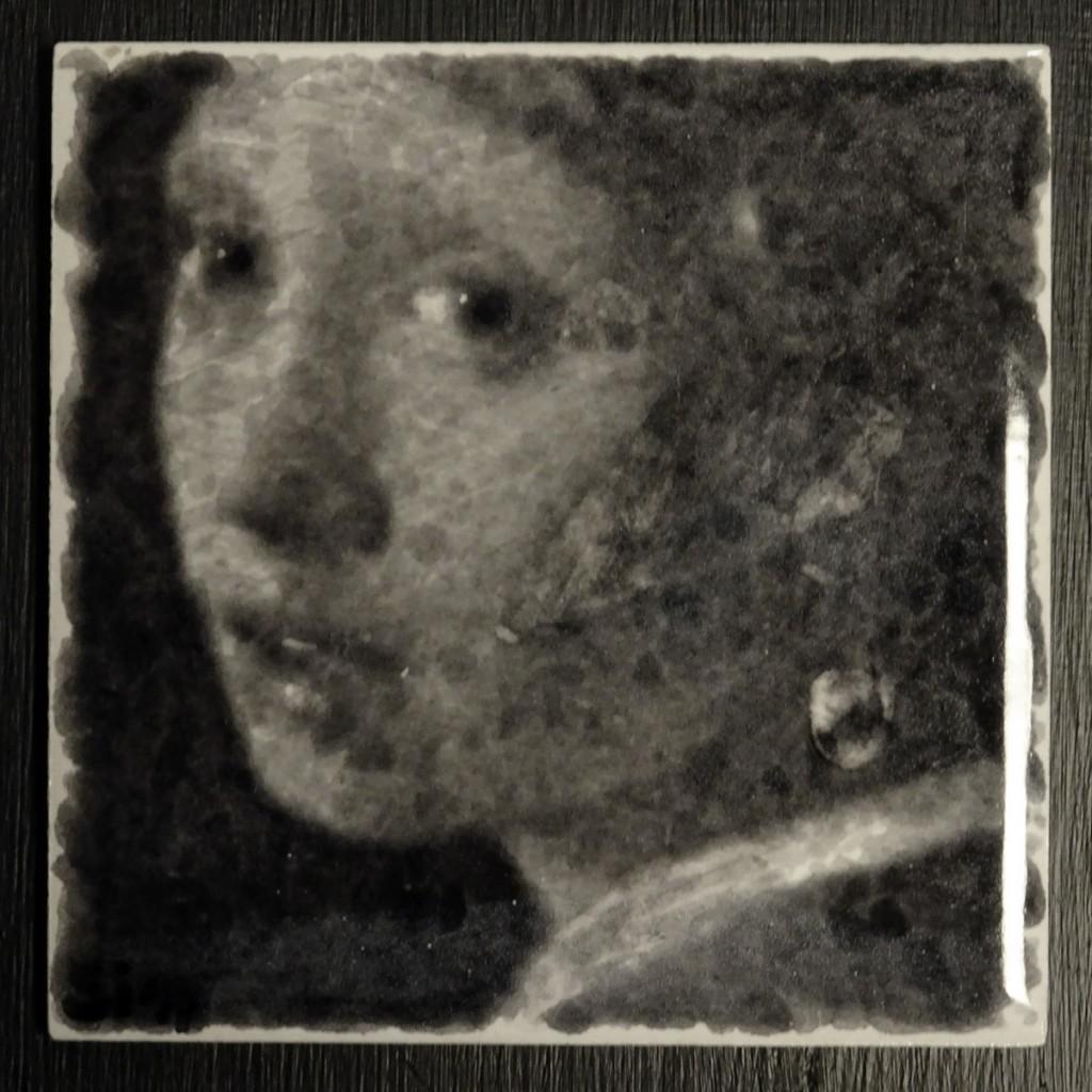 Meisje met de parel naar Vermeer